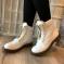 Ботинки весенние белые
