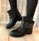 Ботинки весенние черные, цепи