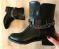 Ботинки черные с цепочкой