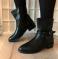Ботинки черные весна, ремешки