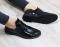 Броги замшевые и кожаные, на шнурках черные