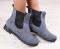 Ботинки замшевые на резинке, серые