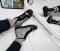 Ботинки на шнуровке кожаные с узором