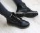 Ботинки кожаные в стиле Balmain, черные