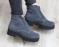 Ботинки замшевые серые