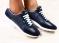 Кроссовки Lacoste, кожаные, темно - синие