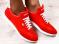 Кроссовки Lacoste, кожаные, красные