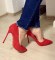 Туфли - лодочки, красные
