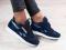 Кроссовки, замшевые, темно - синие, с кожаными вставками