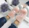 Слипоны кожаные,  на шнуровке с натуральным мехом, розовые