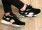 Кроссовки натуральная замша черно - белые