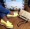 туфли - лоферы желтые