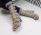 Босоножки Гладиаторы, на каблуке, светло - серые