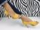Туфли летние желтого цвета