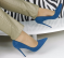 Туфли, темно - лазурного цвета