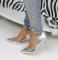 Туфли открытые цвет серебро металлик