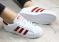 Кроссовки Superstar белые с красными полосками