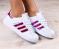Кроссовки Superstar с неоновыми вставками цвета фуксия