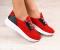 Кроссовки замшевые красные, на белой подошве