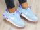 Кроссовки nike натуральная замша, голубого цвета