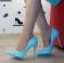 Туфли Vices на шпильке, голубого цвета