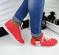 Кроссовки adidas, натуральная кожа, коралловые