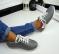 Кроссовки adidas, натуральная кожа, серые