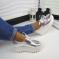 Туфли натуральная кожа, на платформе, серебро