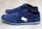 Туфли - мокасины мужские, нубук, синие