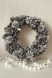 Новогодний венок Белый снег