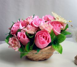 Букет из конфет Розовая нежность