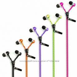 Zipper Earphones Вакуумные наушники с микрофоном на молнии