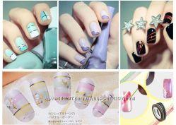 Самоклеющиеся ленты для дизайна ногтей в ассортименте