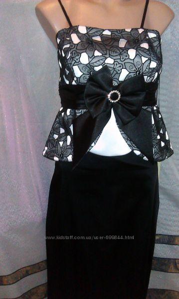 Вечерний открытый нарядный костюм, юбка корсет