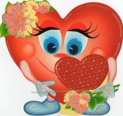 Валентинки Веселые сердца