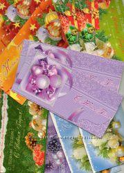 Новогодние конверты для деньги