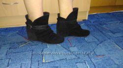 Вельветовые ботинки