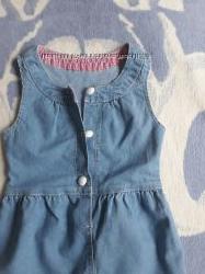 Летний джинсовый сарафан Gloria Jeans 92-98, 3-4г.