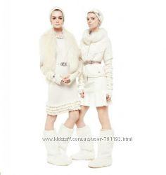 Эксклюзивные сапоги из белого кролика Blumarine оригинал