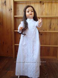 крестильное платье для большой куклы винтаж