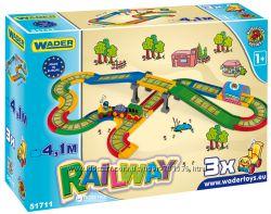 Wader Kid Cars - Железная дорога 3. 1 м,  Железная дорога 4. 1 м