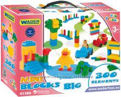 Конструкторы Wader Mini Blocks для деток от 3 лет наборы на 130, 300 эл-в