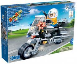 Конструктор BANBAO Полицейский мотоцикл, арт 8351 от 5 лет, 140 дет