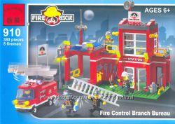Конструктор BRICK Пожарная охрана, арт. 910, 380 дет. , от 6 лет