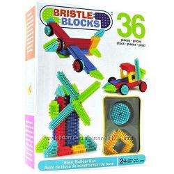 Лучший игольчатый Конструктор BATTAT Bristle Blocks Строитель, 36 дет. , 2
