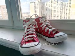 Высокие кеды Converse  на девочку 28 р