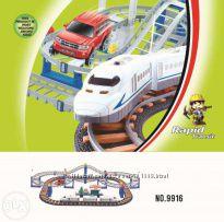 Железная дорога и автотрек 2 в 1