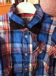 Красивая рубашка в клетку 6-7 лет