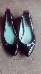 Лакированые туфли балетки