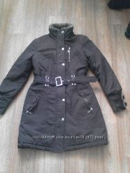 коричневое зимнее пальто
